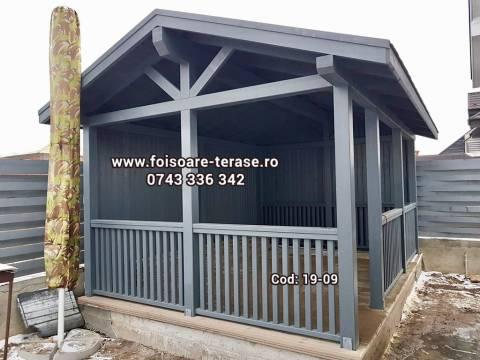 Foisor lemn nuanță gri 19-09