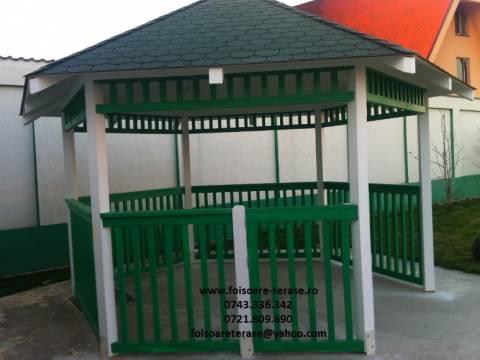 Foisor lemn masiv verde nr 69